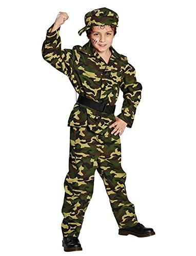 Kämpfer Soldat Kinderkostüm 4-tlg. Set (152)
