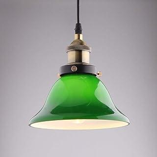 Kotee Emerald Green Glass Hängsmycke Ljus ljuskrona Klassisk Elegant Industriell Enkel Edison Metal Hängande Lampa Inomhus...