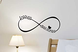 Forever Directioner Fan Infinite Love Music Heart Wall Decal. Cute Wall Vinyl Decal Inspired Motivational Quote Art Saying Lettering Sticker Stencil Wall Decor Art