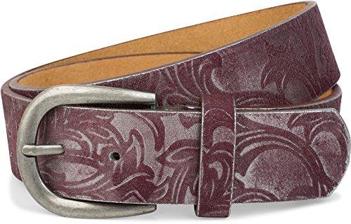 styleBREAKER riem met zacht, reliëf ornamentpatroon, inkortbaar, uniseks 03010076