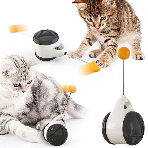 iBune Katzenspielzeug Interaktives Spielzeug für Katzen Katzenspielzeug Beschaftigung Innen Tumbler Drehbarem Bälle