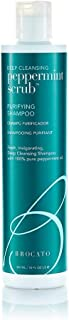 Brocato Peppermint Scrub Purifying Shampoo: Deep Cleansing Clarifying Shampoo with Pure Peppermint Oil for Clean, Healthy ...
