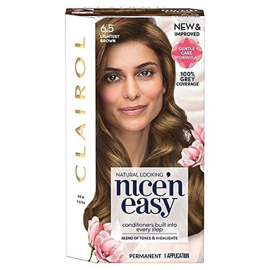 ショットピュー簡単な[Nice'n Easy] Nice'N簡単6.5軽い茶色 - Nice'n Easy 6.5 Lightest Brown [並行輸入品]