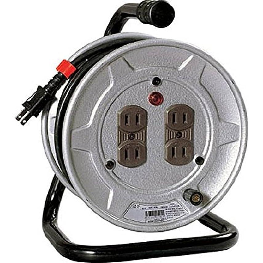 チューリップ学校アンペアKS62854 電工ドラム 標準型100Vドラム 2芯 10m