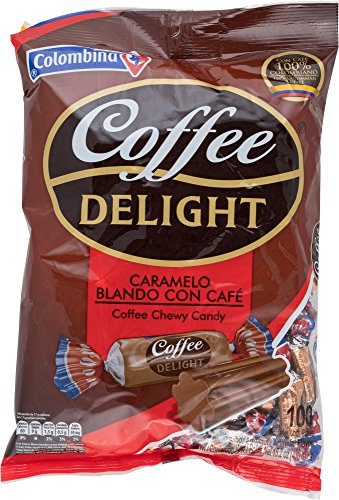 Colombina, Delight Colombian Soft Candy Units, Coffee, 100 Count