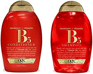 OGX Vitamin B5 Plus Moisture Shampoo and Vitamin B5 Conditioner 13 Oz [ Bundle of 2 Items]