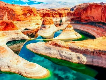 5D bricolage paysage Canyon diamant strass image montagne brodé à la main diamant peinture A7 rond complet 40x50 cm