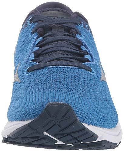 Mizuno mens Wave Rider 23 Waveknit Running Shoe, Campanula-vapor Blue, 10.5 US