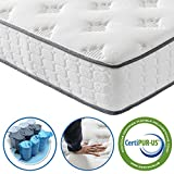 Vesgantti 3FT Single <span class='highlight'>Mattress</span>, 9.8 Inch Pocket Sprung <span class='highlight'>Mattress</span> Single Bed with Breathable Foam and Individually Pocket Spring - Medium <span class='highlight'>Plush</span> Feel, Upgraded Tight Top Collection