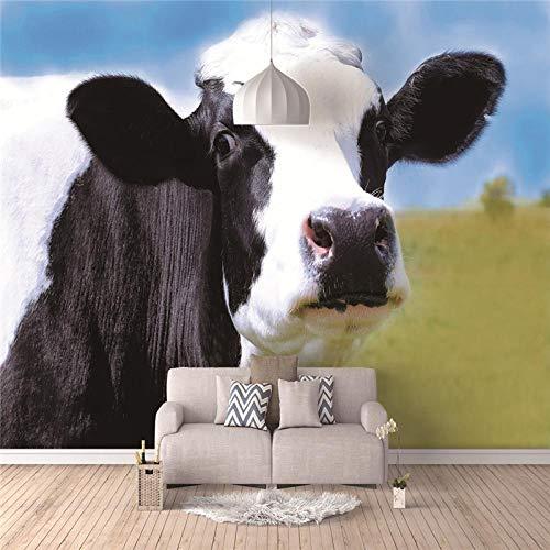 Fotobehang 3D vlies koe van weide wandschilderijen decoratie modern voor slaapkamer woonkamer keuken badkamer 300 x 210 cm