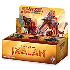 BUILD DECKS. A booster box contains 36 booster packs of Rivals of Ixalan. Each booster pack contains 15 Magic cards (540 cards total). Pick your favorites, put them in your deck, and battle! FILL YOUR BINDER. Rivals of Ixalan includes planeswalkers l...