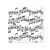 Beistle Musical Notes Beverage Napkins, White/Black