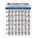 Facibom Tabla de Acordes de Guitarra de Bajo EléCtrico Diagrama de DigitacióN de Acordes de Guitarra de 4 Cuerdas Diagrama de Ejercicio Peque?O