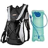 Exnemel 5L Gran Capacidad de Mochila de hidratación, con Sistema de hidratación de 2 L, Mochila de Agua con Sistema de hidratación (Negro)