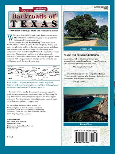 Backroads of Texas: The Sites, Scenes, History, People, and Places Your Map Doesn't Tell You About