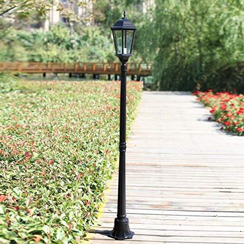 Lámpara de columna de cristal de alto palo de poste al aire libre Lámpara de columna de cristal transparente Serie Moderna Linterna de pedestal de linterna de cristal