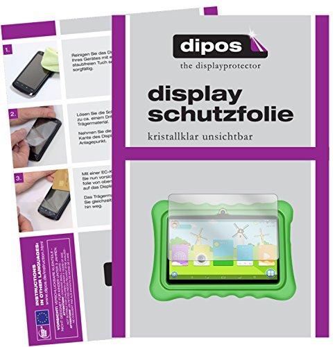 dipos I 2X Protector de Pantalla Compatible con Yuntab Q88 Kids Tablet pelicula Protectora Claro