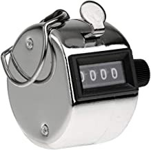 Steel Hand Held 4 Digit Manual Tally Counter- VRINDAVANBAZAAR.COM(Silver)