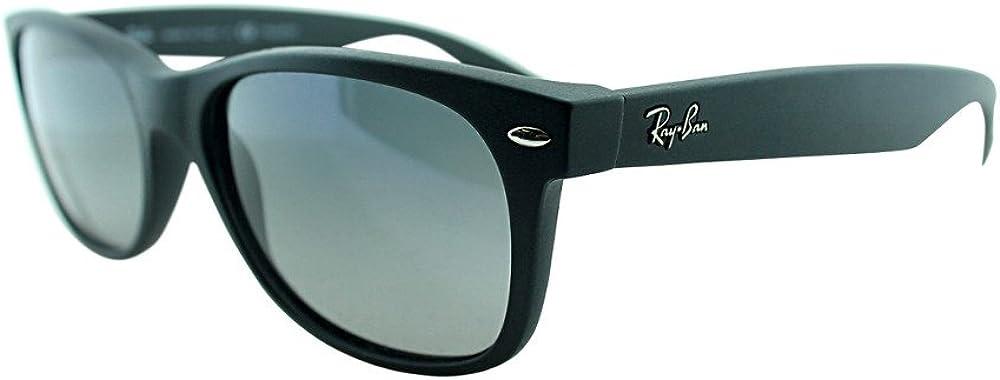 Ray-ban new wayfarer, occhiali da sole, unisex, lenti di cristallo con rivestimento anti-riflesso, verdi 0RB2132
