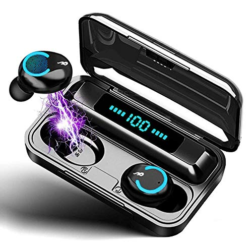 Auriculares Inalambricos Deportivos, Auriculares Bluetooth 5.0 Sport IPX7 Impermeable Cascos Bluetooth In-Ear Auriculares Wireless Running con Mic, 100 Horas y Pantalla LED,para iOS y Android
