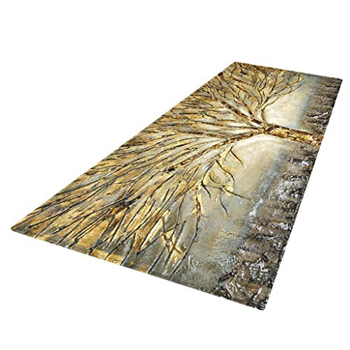 Backbayia rutschfest Küchenläufer Küchenteppiche Teppich Matte für Wohnzimmer, Küche, Bad (Farbe 5)