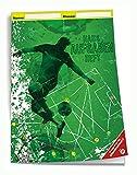 Trötsch Verlag  201842N - Hausaufgabenheft DIN A5 für die Grundschule, Fußball, 96 Seiten, mit extra starkem Klarsichtumschlag