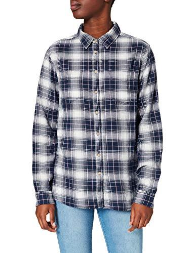 Springfield Camisa Cuadros, Azul Claro, 40 para Mujer