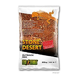 Exo Terra PT3137 Outback Red Stone Desert Substrate for Terrariums, Mouldable, Red, 20 kg