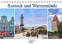 Rostock und Warnemuende - Tor zur Welt (Tischkalender 2022 DIN A5 quer): Rostock und Warnemuende - sichtbare Hansetradition (Monatskalender, 14 Seiten )