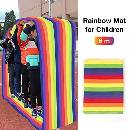 Cherishly Indoor Interactive Run Mat Kids Grupo de Juegos de Entrenamiento Rainbow Mat Rolling Mat Desarrollo de la Actividad de Aprendizaje Diversión Jugar Run Mat para niños