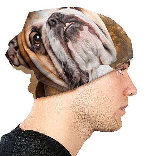 Berretti in Maglia per Uomo e Donna Cappellini per Cani con Bulldog per Animali Domestici Berretti da Sci Caldi in Maglia