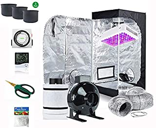 Penseetek Super Indoor Growing System/Indoor Grow Tent and LED Grow Lights System+Grow Tents Air Filtre Kits-4