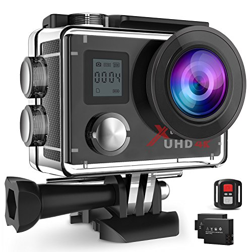 Campark ACT76 Action Cam 4K Wi-Fi 16MP FHD Impermeabile 30M...