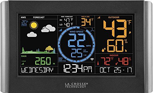 La Crosse Technology V22-Wrth-Int Professional Weather Station, Black/Silver