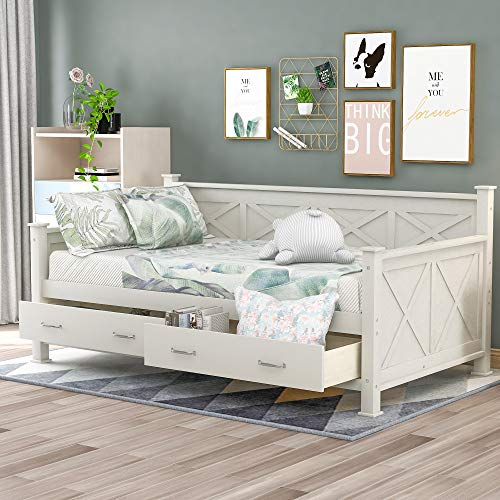 Harper Twin Size Daybed With Drawers