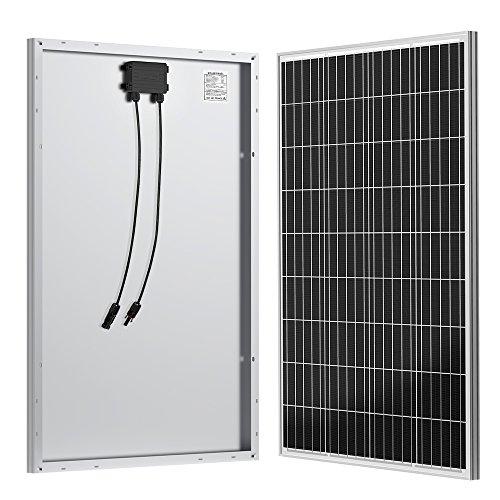 ALLPOWERS 100W 12V Monocristallino de Panel Solar Célula Solar Impermeable con Mc4 Conector Módulo Cargador para Cargar de 12 Volt de Baterías, Caravana, Camper, RV