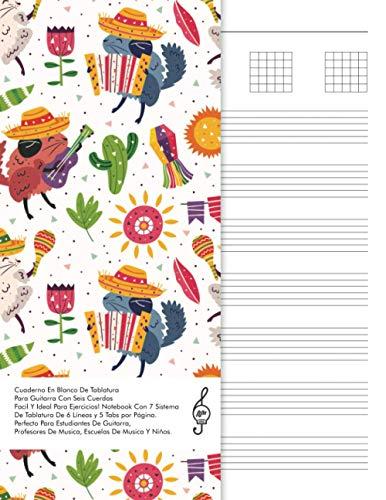 Cuaderno En Blanco De Tablatura Para Guitarra Con Seis Cuerdas: Facil Y Ideal Para Ejercicios! Notebook Con 7 Sistema De Tablatura De 6 Líneas y 5 ... Musica Y Niños. (Beginner Guitar Sheet Music)