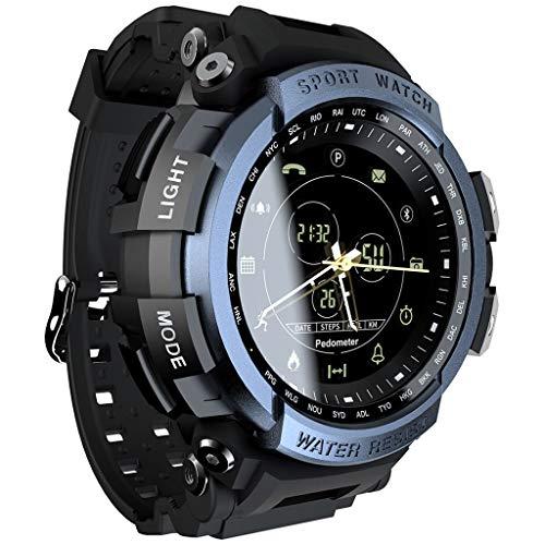 Best Gift !! Lankccok LOKMAT Sport Smart Watch Professional 5ATM Waterproof Bluetooth Call Reminder