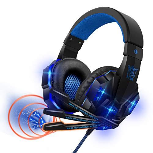 ゲーミングヘッドセット 高音質 ヘッドホン 軽量 ヘッドセット マイク付き ゲーム用 ヘッドフォン 有線 3.5mm 5.1ch FPS pcゲーム
