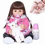 WEHQ Rebirth Doll, Juguetes para niños, muñecas Reborn de 22-24 Pulgadas, recién Nacido, niña, Cuerpo Completo o Cuerpo de Tela, Silicona Suave, Juguete Realista para