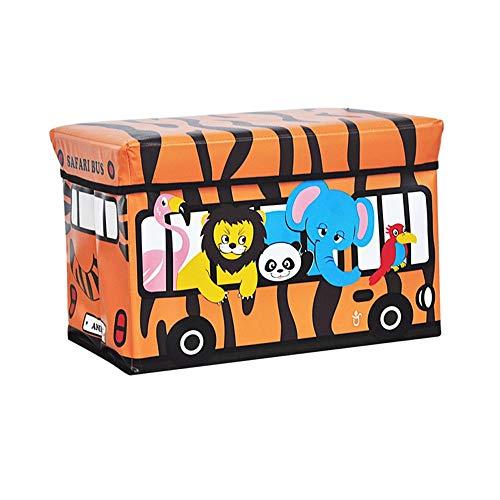 Paddia Niños Juguetes Libros Tapa para niños Tidy Caja de almacenamiento grande Taburete plegable Asiento Caja de juguetes Chicos Chicas Ropa de cofre Niños habitación para niños plegable Tidy Toy Sto