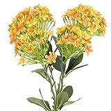 NAHUAA 2 Pz Fiori Finti Bouquet di Fiori Artificiali per Vasi Alti Incenso Serale Decorazioni Arancioni Ortensie Centrotavola Interno Esterno Soggiorno Balcone