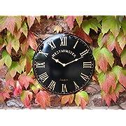 Outdoor indoor black Garden Wall Clock Hand Painted church clock 38cm