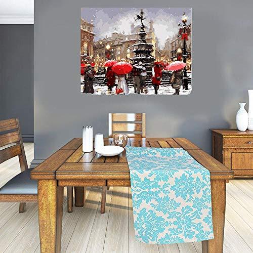 Wqavtenschilderen cijfers By cijfers Wall Art for Living Room kerstcadeau Artwork kleuren voor winter Snow Poster