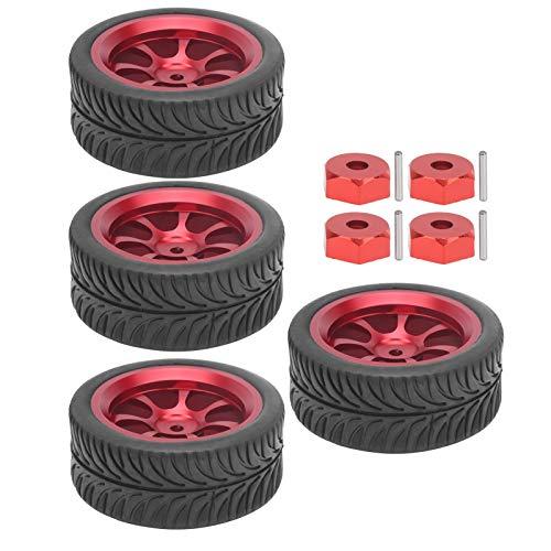 Juego de neumáticos de llantas de metal anti-Skid RC Drift para coches de carreras en carretera, para vehículos teledirigidos viejos o dañados, para Wltoys A959 1/18 RC Car