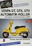 Vespa GT, GTS, GTV Automatik-Roller: Alle Viertakter 125 bis 300 ccm ab 2003: Alle Viertakter 125 bis 300 ccm ab 2003. Technik, Wartung, Reparatur