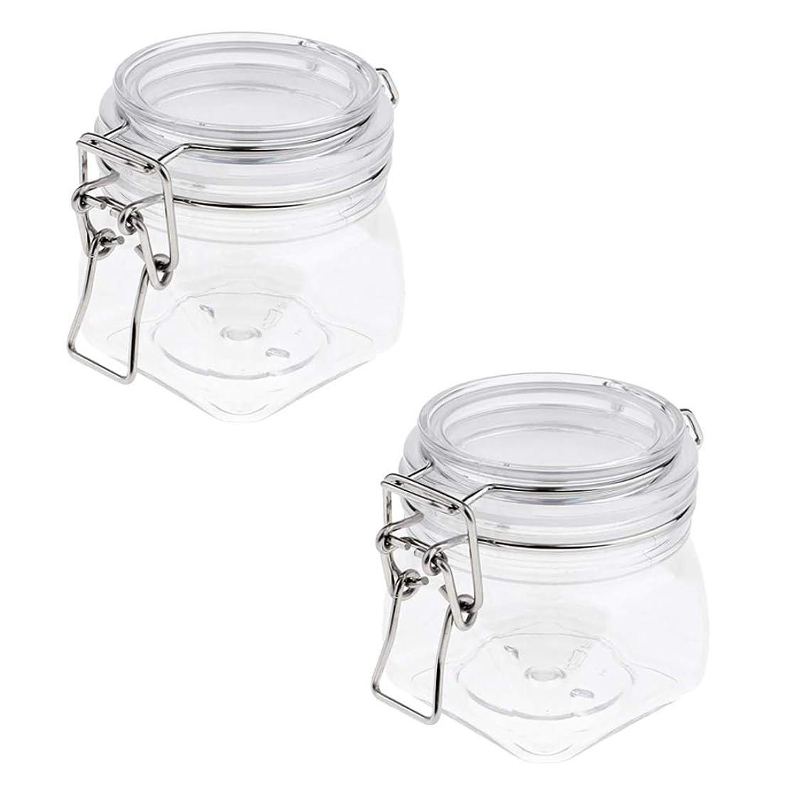 より平らな苦しむ継続中SM SunniMix 密閉瓶 プラスチック 化粧品容器 クリーム 約250ml コンテナ ジャー シリコンシールリング