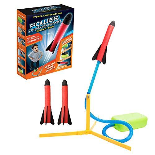 biteatey Air Rocket Pedal Cohete Cohete Lanzador de Cohetes al Aire Libre Lanzamiento Cohete Juguete EVA para niños. Hermoso, hábil