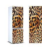 Oedim Vinilo para Frigorífico Piel Leopardo 185 x 60 cm   Adhesivo Resistente y de Fácil Aplicación   Pegatina Adhesiva Decorativa de Diseño Elegante