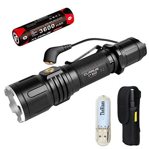 Klarus XT12S Taktische Taschenlampen 1600 Lumen Ultra helle leistungsstarke Taschenlampe CREE LED USB Magnetische Aufladen Taschenlampe, mit 18650 Akku + BanTac USB Licht